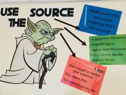 Yoda Use the Source classroom display
