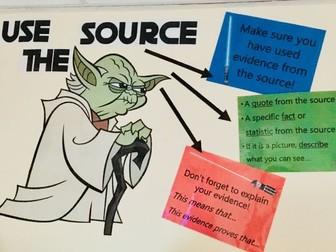 Yoda Use the Source classroom display