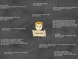 Benvolio Poster – Key Quotes (Romeo and Juliet)