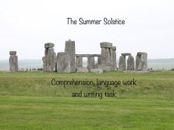 Summer solstice comprehension with answers