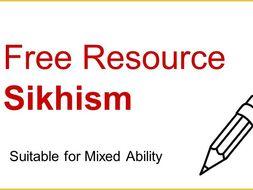 Free Sikhism Worksheet