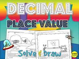 Decimal Place Value Solve & Draw Activity