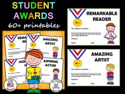 student awards end of year awards us version 60 printable awards