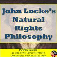 John Locke's Natural Rights Philosophy Lecture & Activity (Civics)