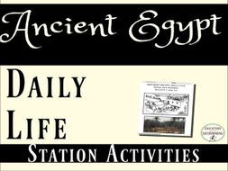 Ancient Egypt: Daily Life in Ancient Egypt 3 Station Activities