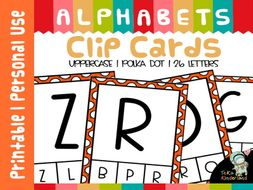 Uppercase Letter Matching Clip Cards