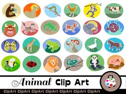 Wild Animal Clip Art Set