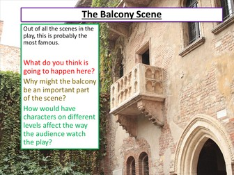 Romeo and Juliet Balcony Scene
