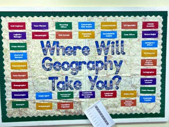 Geography Careers Display