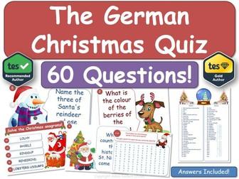 German Christmas Quiz! (MFL)