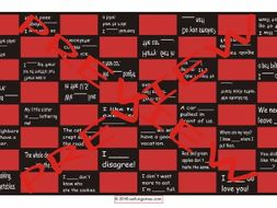 Adverbs Checkerboard Game