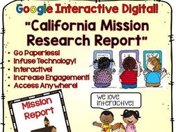 Google Drive California Mission Report for Google Classroom