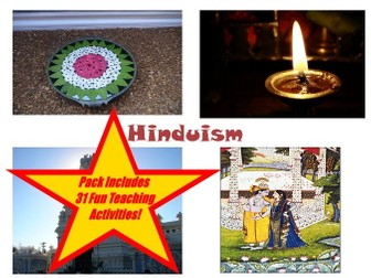 30 Images Of Hinduism PowerPoint Presentation + 31 Teaching Activity Teacher Guide For These Cards