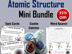 Atomic Structure Task Cards and Activities Mini Bundle