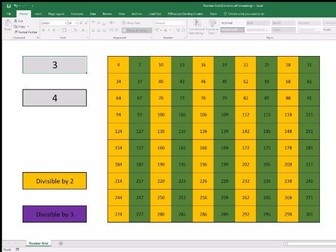 Number Grid (Conditional Formatting in Excel)