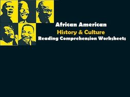 African American American History & Culture - Reading Comprehension Worksheets / Texts (SAVE 55%)