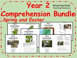 Year 2 Spring and Easter Comprehension Pack