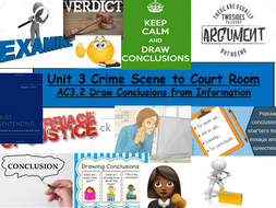 Criminology (NEW SPEC)Unit 3-AC3.2 Draw Conclusions from Information -Lesson & Activities