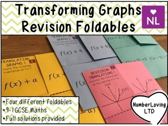 Transforming Translating Graphs Revision Foldables