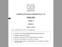 Common Entrance English Past Paper Questions - Covers all areas!