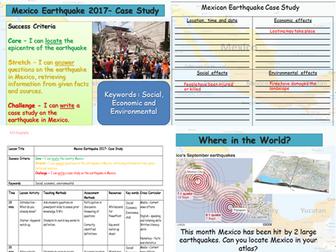 Mexico Earthquake 2017 -  Case Study - Natural Hazards