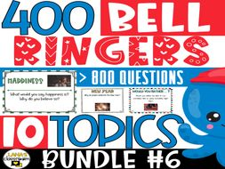 Bell Ringers Questions   BUNDLE#6   Middle and High School