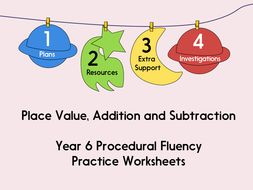 Year 6 Practice Worksheets (with answers!) - Place Value, Addition and Subtraction