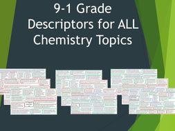 Grade Descriptor for ALL Chemistry Topics AQA