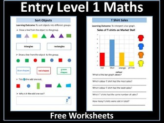 Block Graphs Worksheet - AQA Entry Level Maths