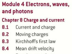 OCR AS level Physics: Charge and Current