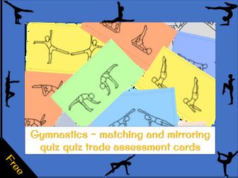 Gymnastics - Matching and mirroring quiz quiz trade cards