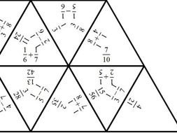 Adding & Subtracting Unit Fractions - Tarsia Jigsaw