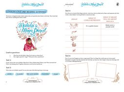Malala's Magic Pencil - lesson ideas to accompany the new book by Malala