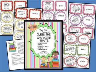 A Guess the Character Traits Game for Reading Comprehension