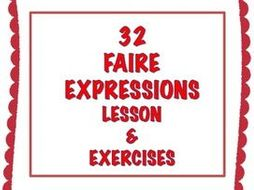 GCSE FRENCH: French Faire Expressions Lesson + Exercises