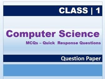 Class 1: Computer Science MCQs, QP.