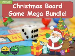 Biology Christmas Board Game Mega-Bundle! (Fun, Quiz, Christmas, Xmas, Boardgame, Games, Game, Revision, GCSE, KS5, AS, A2)  Biology