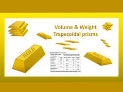 Trapezoidal Prisms and Gold PowerPoint