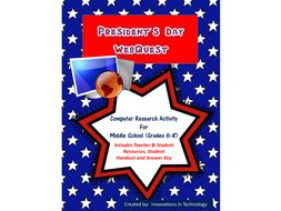 President's Day WebQuest (Internet Scavenger Hunt)