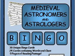 READING PASSAGES AND BINGO: Medieval Astrologers and Astronomers