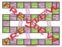 Reflexive and Reciprocal Pronouns Chutes and Ladders Board Game