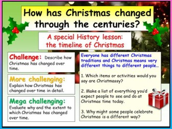 History Christmas Lesson