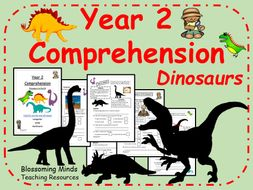Year 2 SATs Comprehension - Dinosaurs - 3 Levels