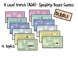 A Level French- Speaking Board Games- BUNDLE