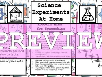 Science Home Experiment - Robotic Arm