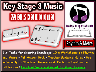Music Worksheets Rhythm and Metre