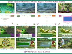 Flying Frogs Spanish PowerPoint Game TEMPLATE FREE READ ONLY SHOW