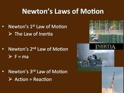 newton s laws of motion a physics powerpoint lesson notes by
