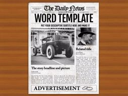Microsoft Word Newspaper Template For Teachers And Students Export As Pdf Jpg Png