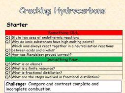 AQA Chemistry Topic 9 : Cracking